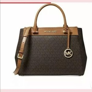 MICHAEL KORS GIBSON LARGE SATCHEL BROWN/ACORN New